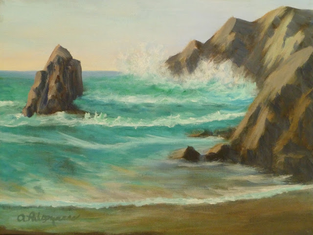 Pacific Coast Seascape Painting Amber Palomares Fine Art