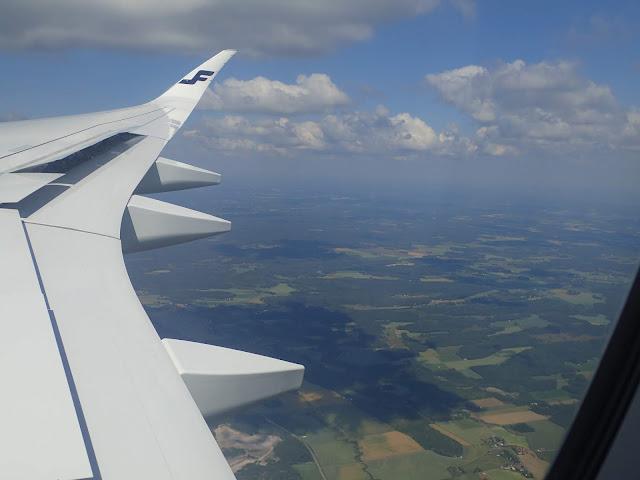 Podchodzenie do lądowania w Helsinkach