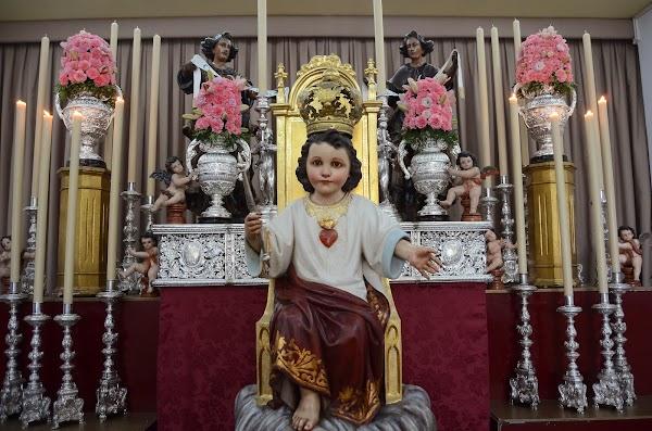 Horario e Itinerario Salida procesional del Niño Cristo Rey. Sevilla 23 de Noviembre del 2019