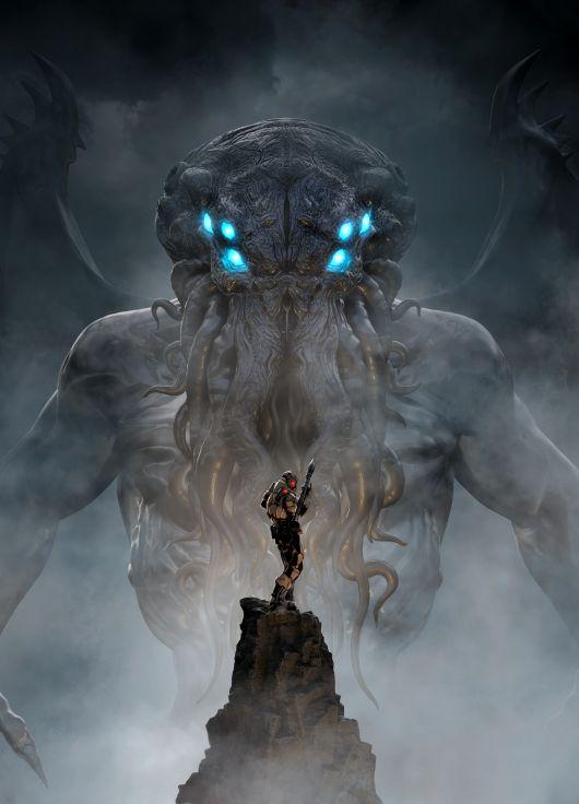 Joseph Diaz artstation ilustrações artes conceituais 3D fantasia terror sombrio lovecraft cthulhu