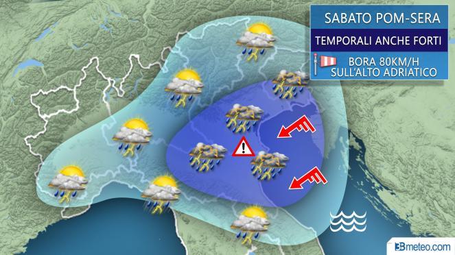 3Bmeteo: anticiclone delle azzorre e caldo intenso al Centro-Sud, sabato forti temporali al nord