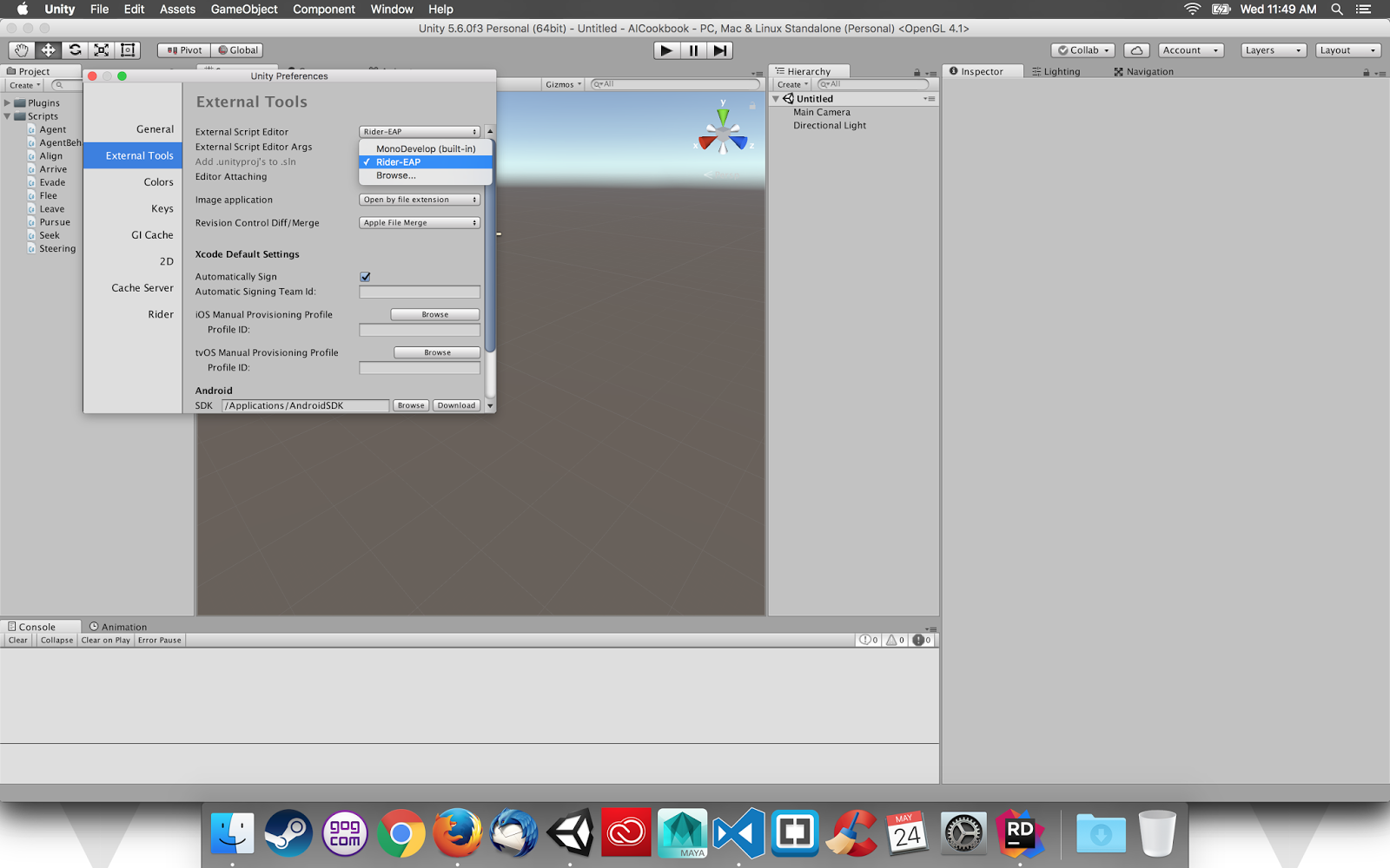 The Blog of Dave McDowell: Using the Rider IDE with Unity