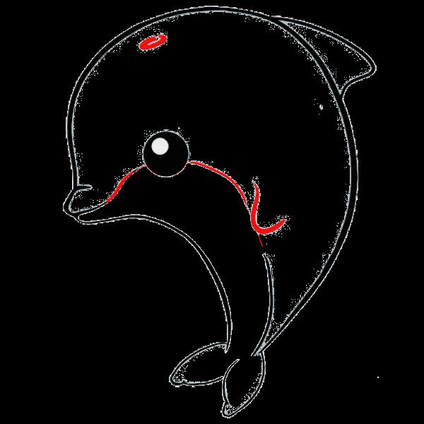 delfin kawaii colorear dibujo
