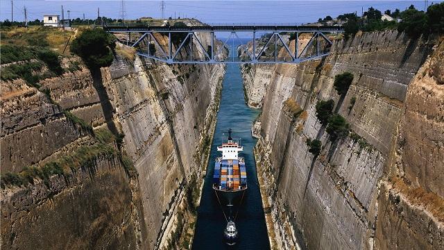 Asal Usul Terusan Atau Kanal Korintus Yunani Untuk Kapal