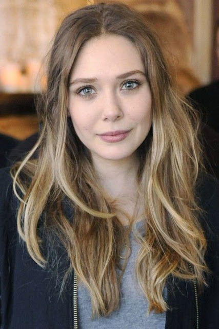 elizabeth olsen's light blonde and ashy dark blonde hair color