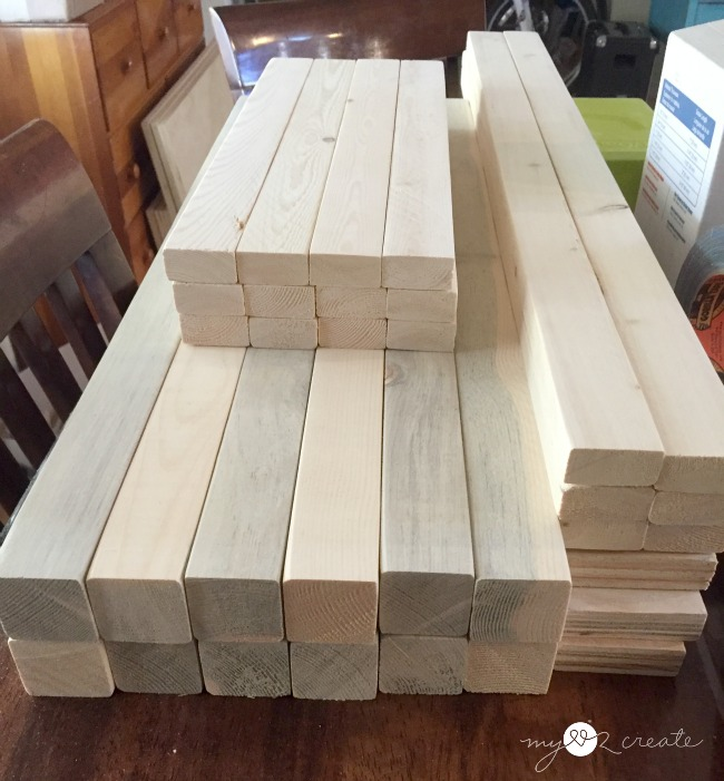 wood for lego tables