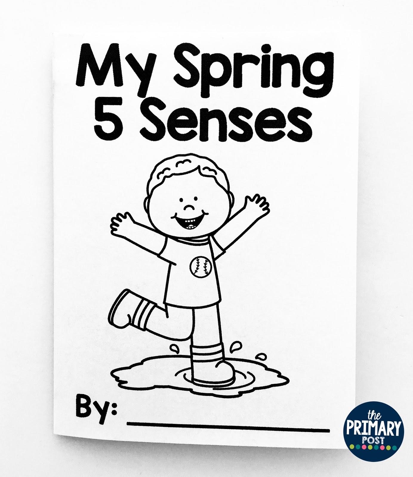 Spring 5 Senses Mini Book Freebie
