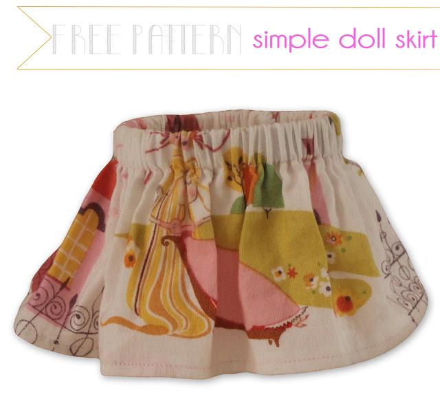 Doll Skirt Pattern 104