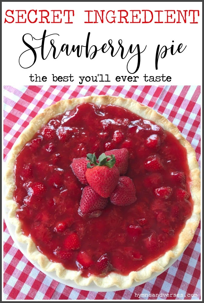 SECRET INGREDIENT STRAWBERRY PIE