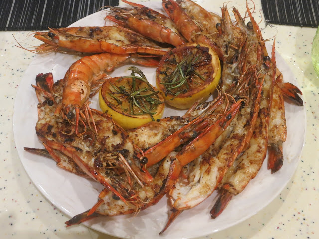 Grilled Live Tiger Prawn