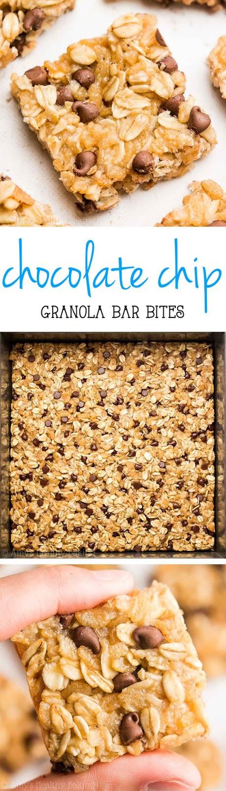 Chocolate Chip Granola Bar Bites