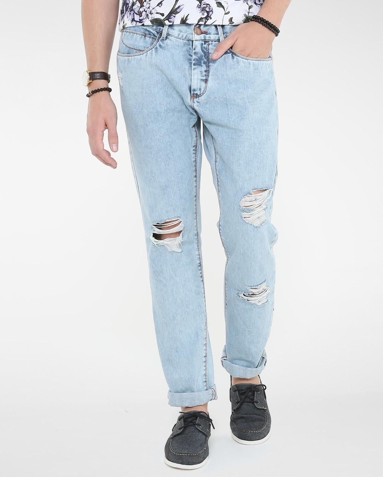 LEO KLEIN - KADU DANTAS PARA RIACHUELO - Calça Jeans Slim Destroyed