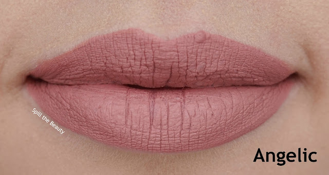 quo 2017 makeup review swatches lip velour liquid lipstick angelic