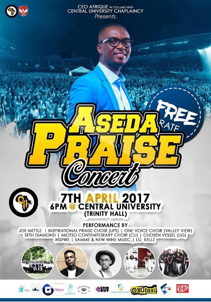Joe Mettle Headline For Aseda Praise Concert at Central University On April 7, 2017