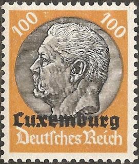 Germany 1933-41 100pf Pres. Von Hindenburg Luxembourg