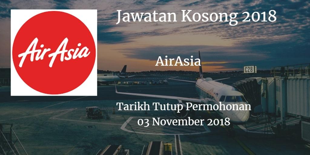 Jawatan Kosong AirAsia 03 November 2018