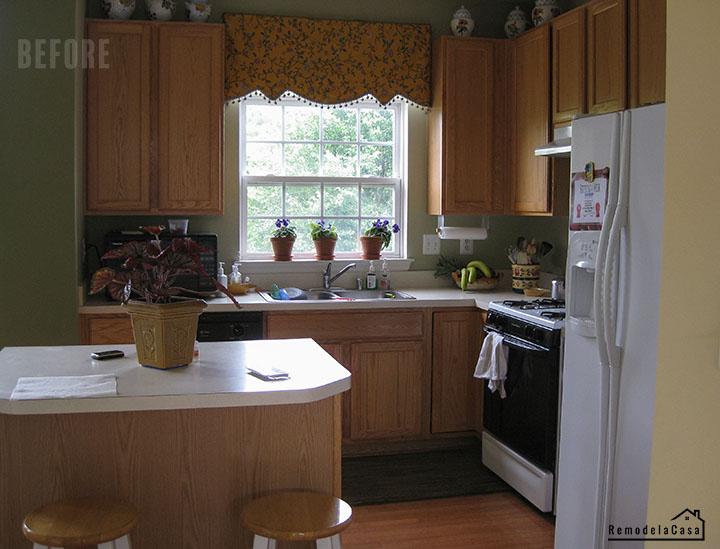 Honey oak kitchen