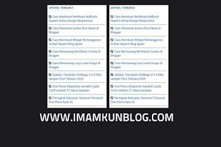 Cara Membuat Widget Postingan Terbaru di Blogger
