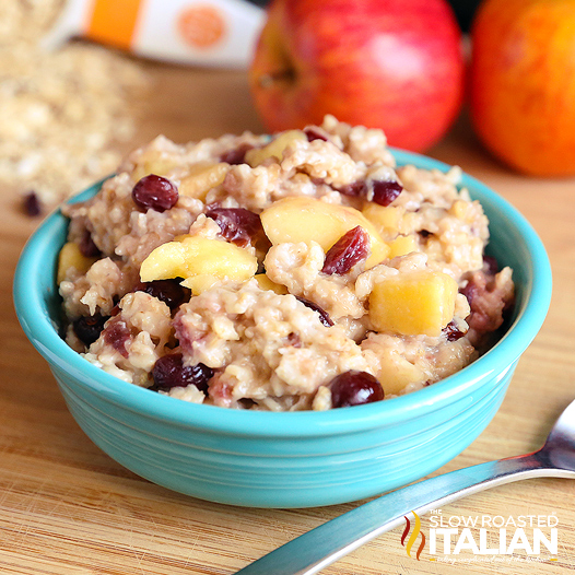 Crock Pot Old Fashioned Oatmeal With Apples