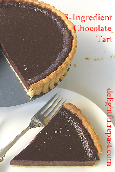 3-Ingredient Chocolate Tart / www.delightfulrepast.com