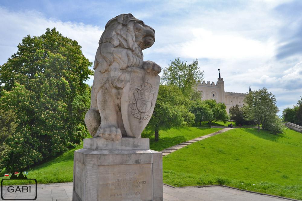 Lublin lew pod zamkiem