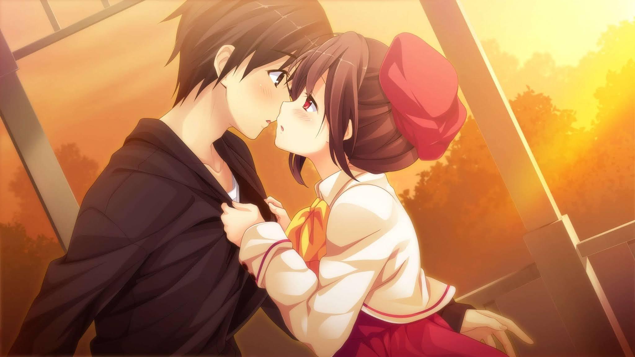 Gambar anime romantis komputer