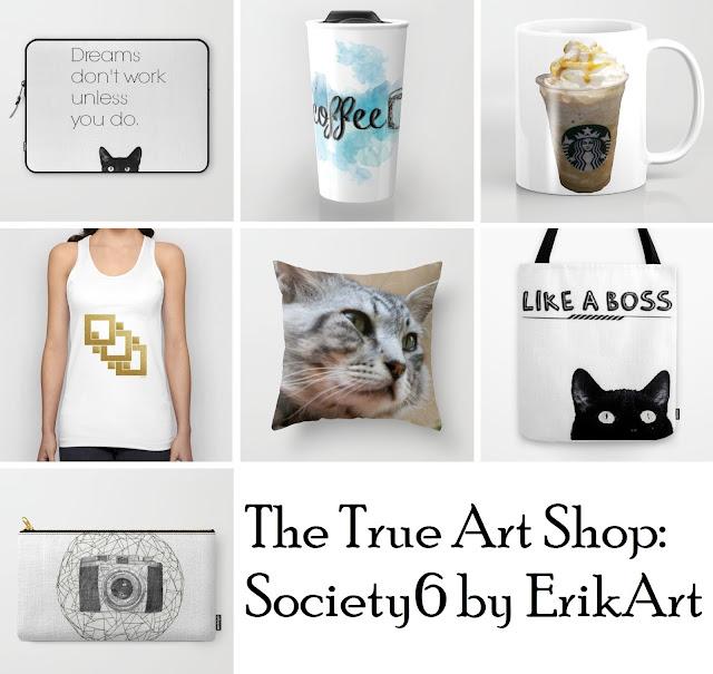 top, mug, laptop sleeve, tote, original prints