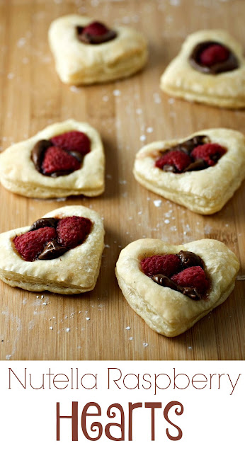 nutella raspberry heart cookies