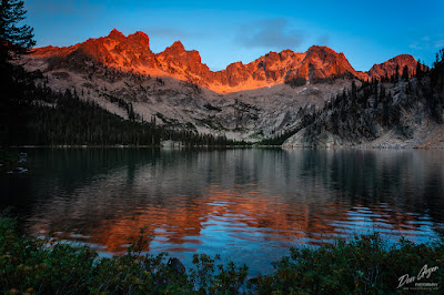 Image of Upper Cramer Lake reflection, Sawtooths