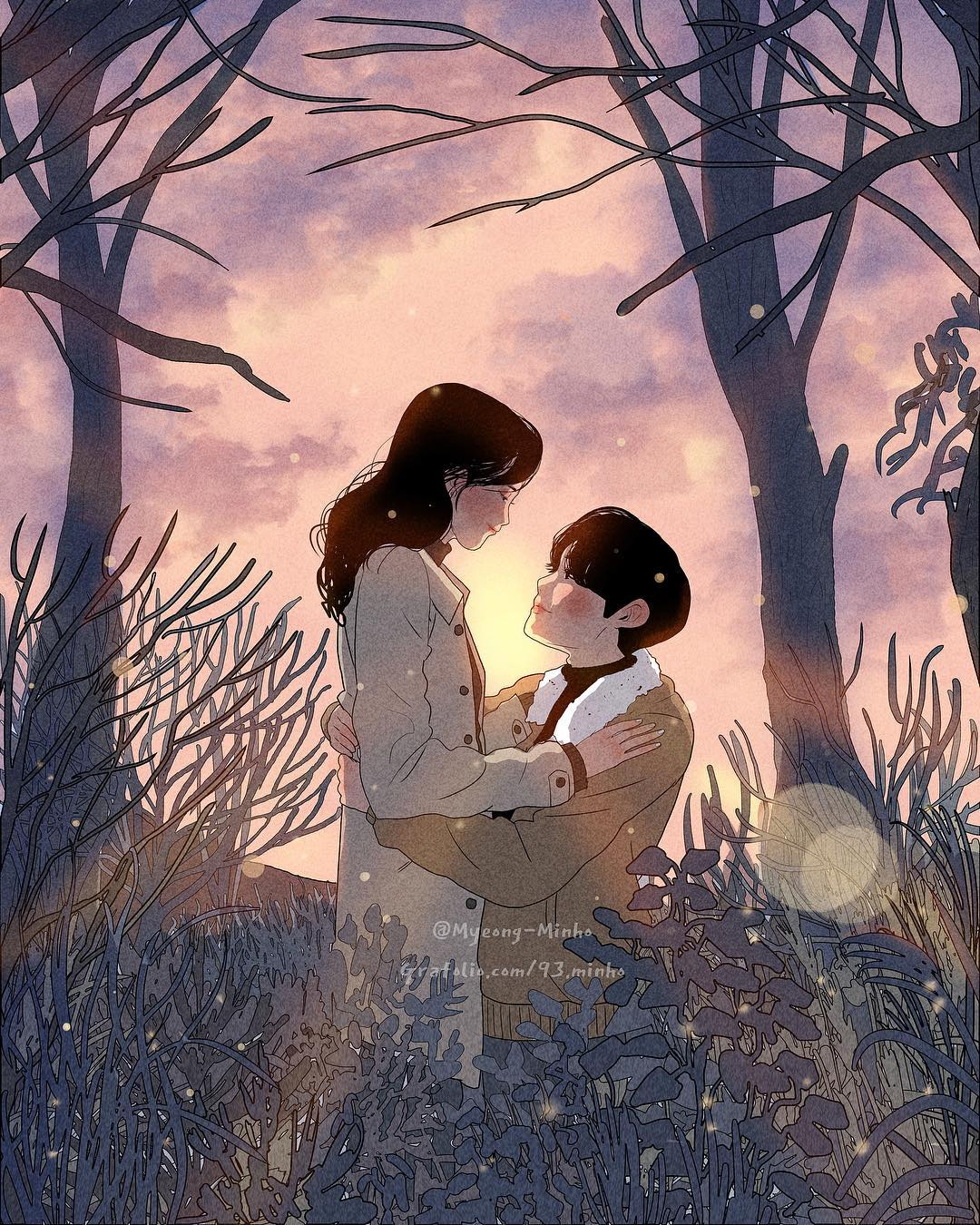 Heart-Warming Illustrations Depict The Romantic Moments Of A Happy Couple