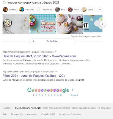 Des oeufs de Pâques remplacent les «o» de Google