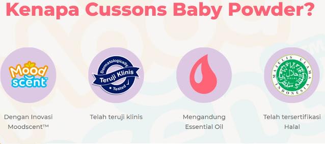 Cussons Baby Powder dengan Teknologi Moodscent