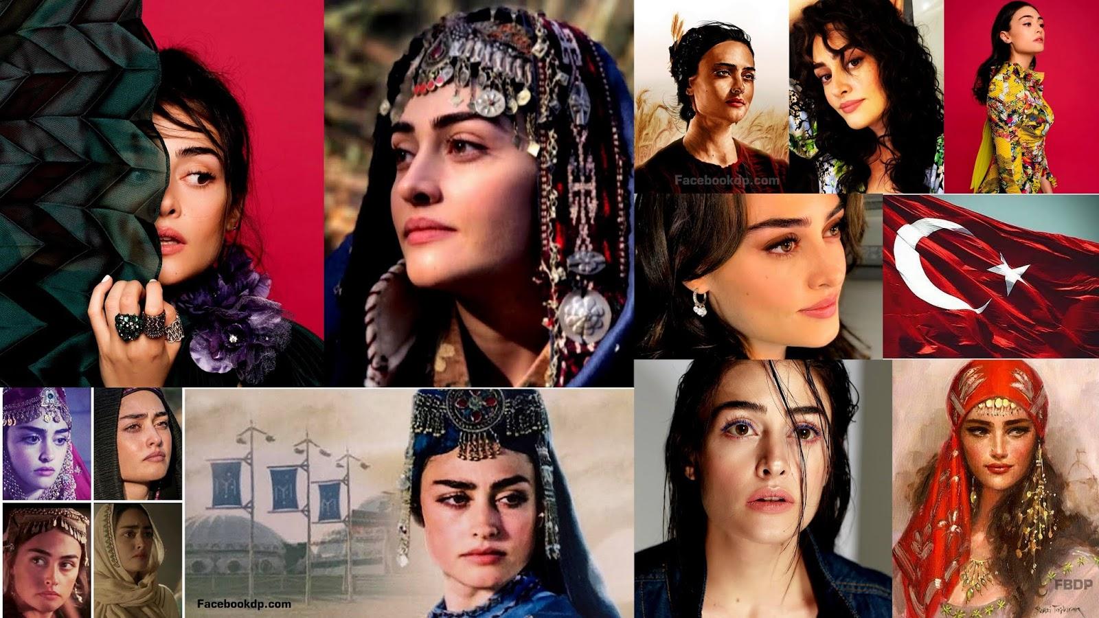 Beautiful Turkish Drama Ertugrul Actress Esra Bilgic Halima Khatun Dp Facebook Display Pictures
