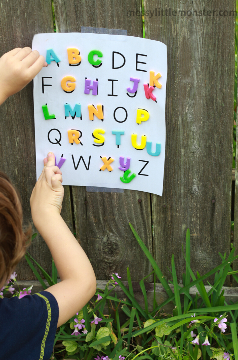 letter activity for kids