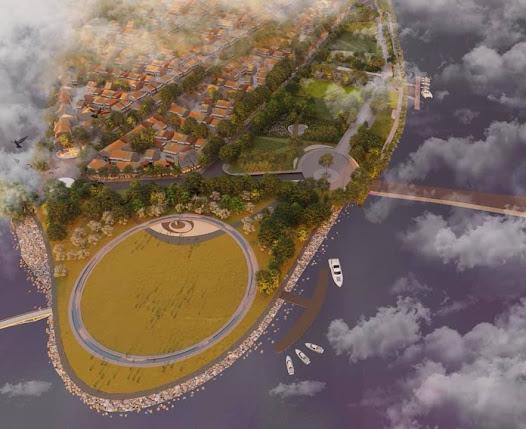 Phối cảnh nhìn từ trên cao xuống của công viên âm nhạc Trịnh Công Sơn