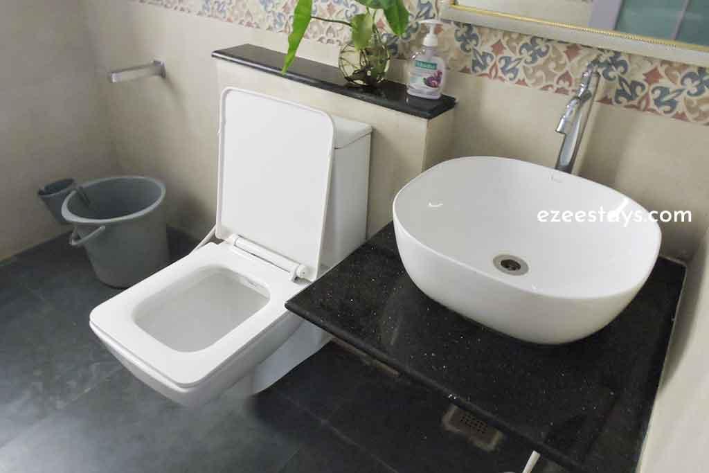 westernized bathrooms in beach house in ecr