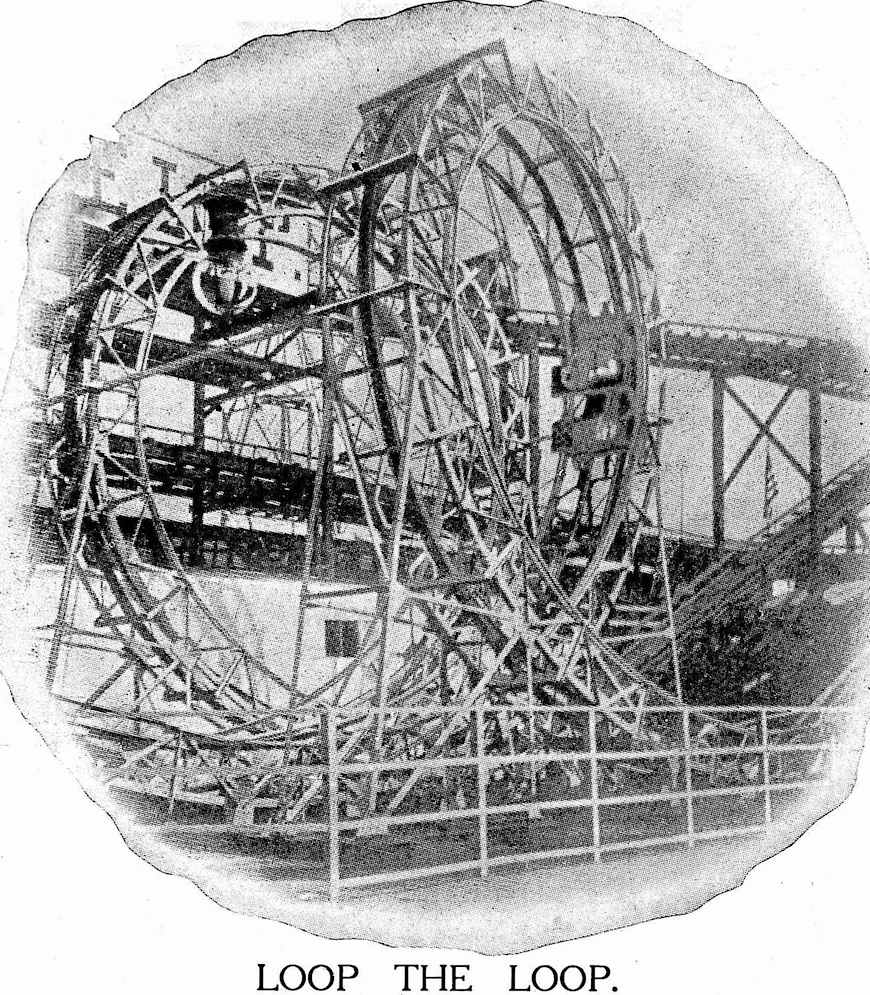 1905 amusement ride, Loop the Loop photograph