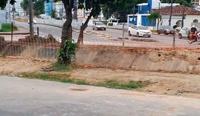 Internauta cobra da Prefeitura conclusão de obra no Prado