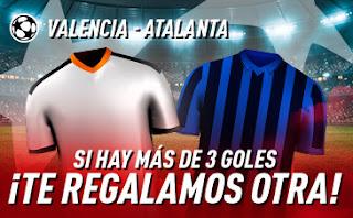 sportium Promoción Champions Valencia vs Atalanta 10 marzo 2020