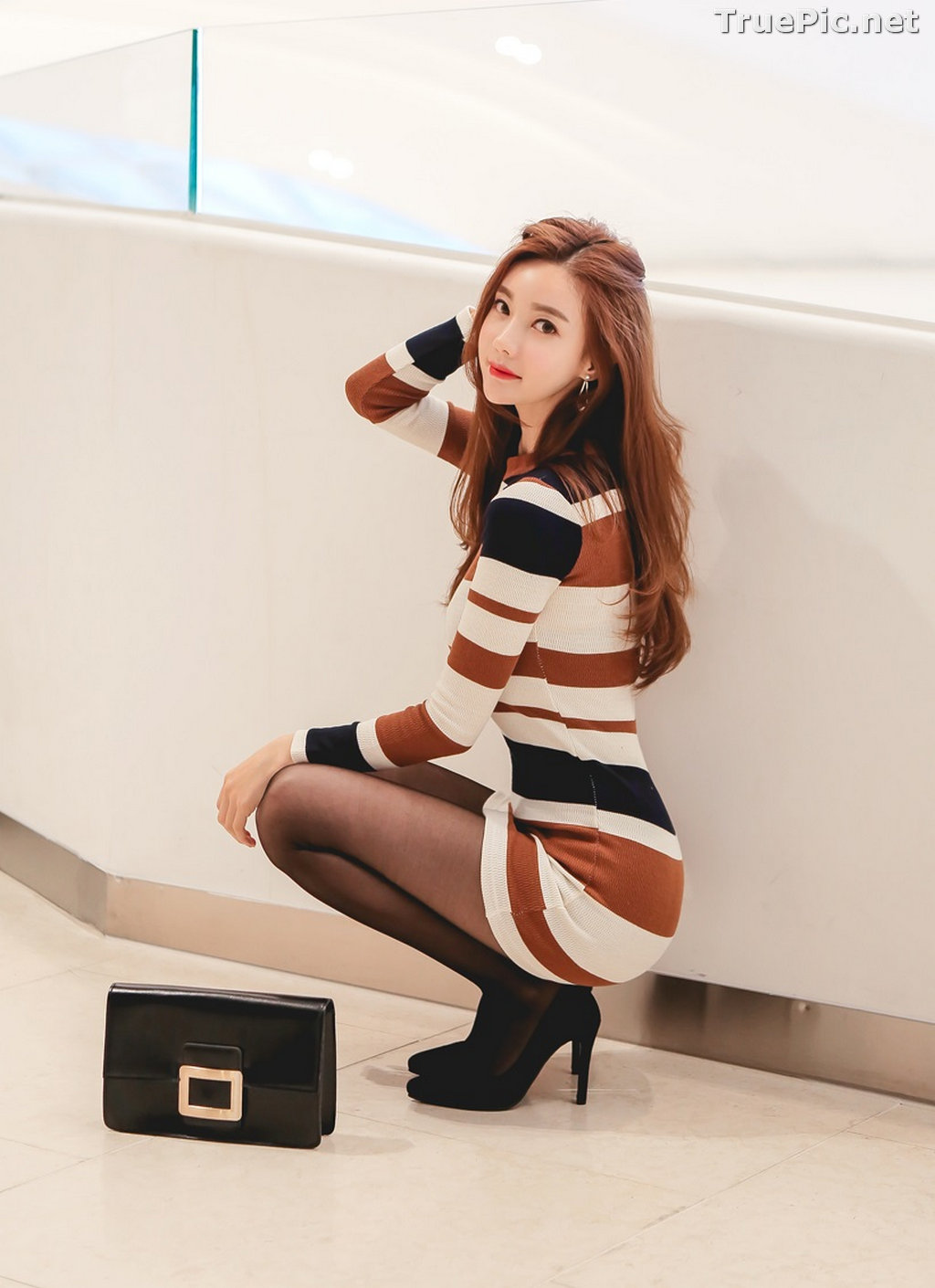 Image Korean Fashion Model – Hyemi – Office Dress Collection #2 - TruePic.net - Picture-4