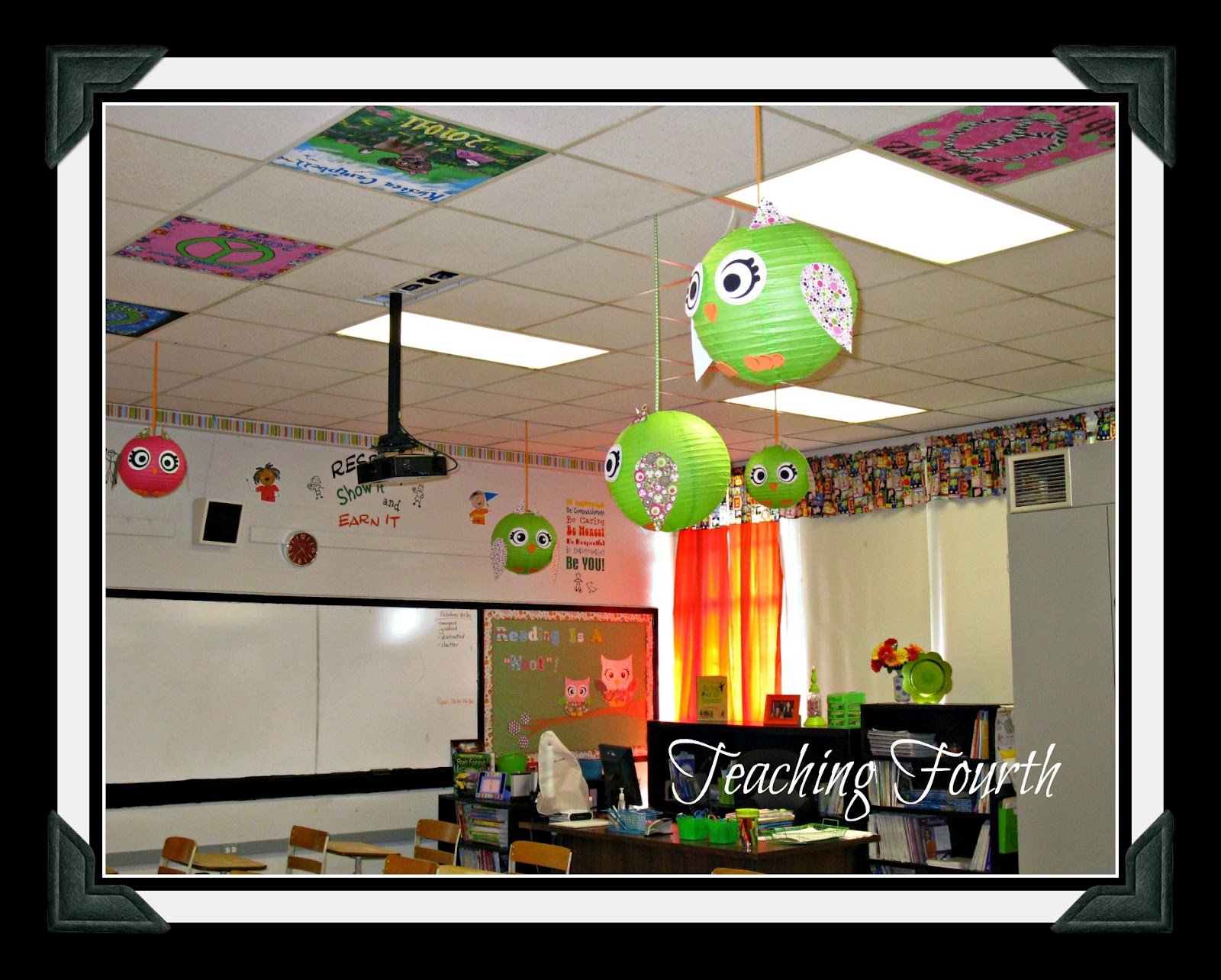 Teaching fourth sorry i fibbed more classroom decorations owl lanterns - Classroom wall decor ...