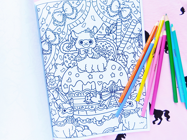 Kawaii Alpacas Coloring Book Flip Through