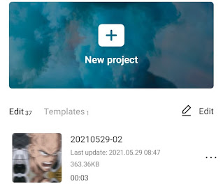 create a new project in capcut app