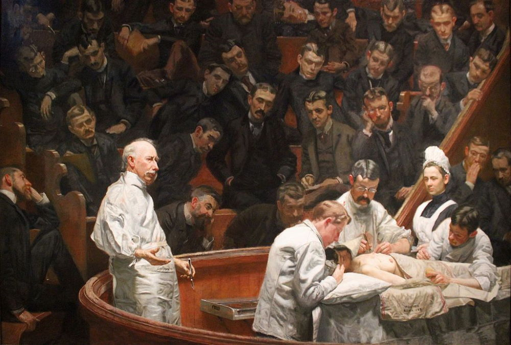 The Agnew Clinic by American artist Thomas Eakins, 1889.