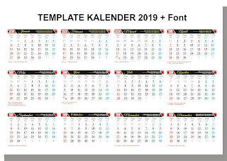 desain-kalender-tahun-2019-cdr-lengkap-dengan-jenis-jenis-font