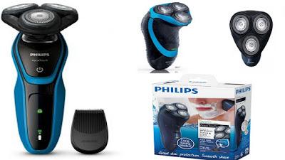 ماكينة حلاقة كهربائية اكوا تاتش لاستعمال جاف و مبلل للرجال من فيليبس، ازرق - philips at620 aqua touch electric shaver  at620/14