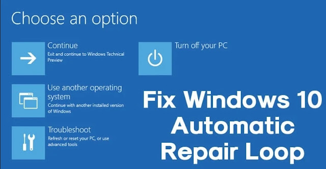 Windows 10 Automatic Repair loop issue step by stepp process