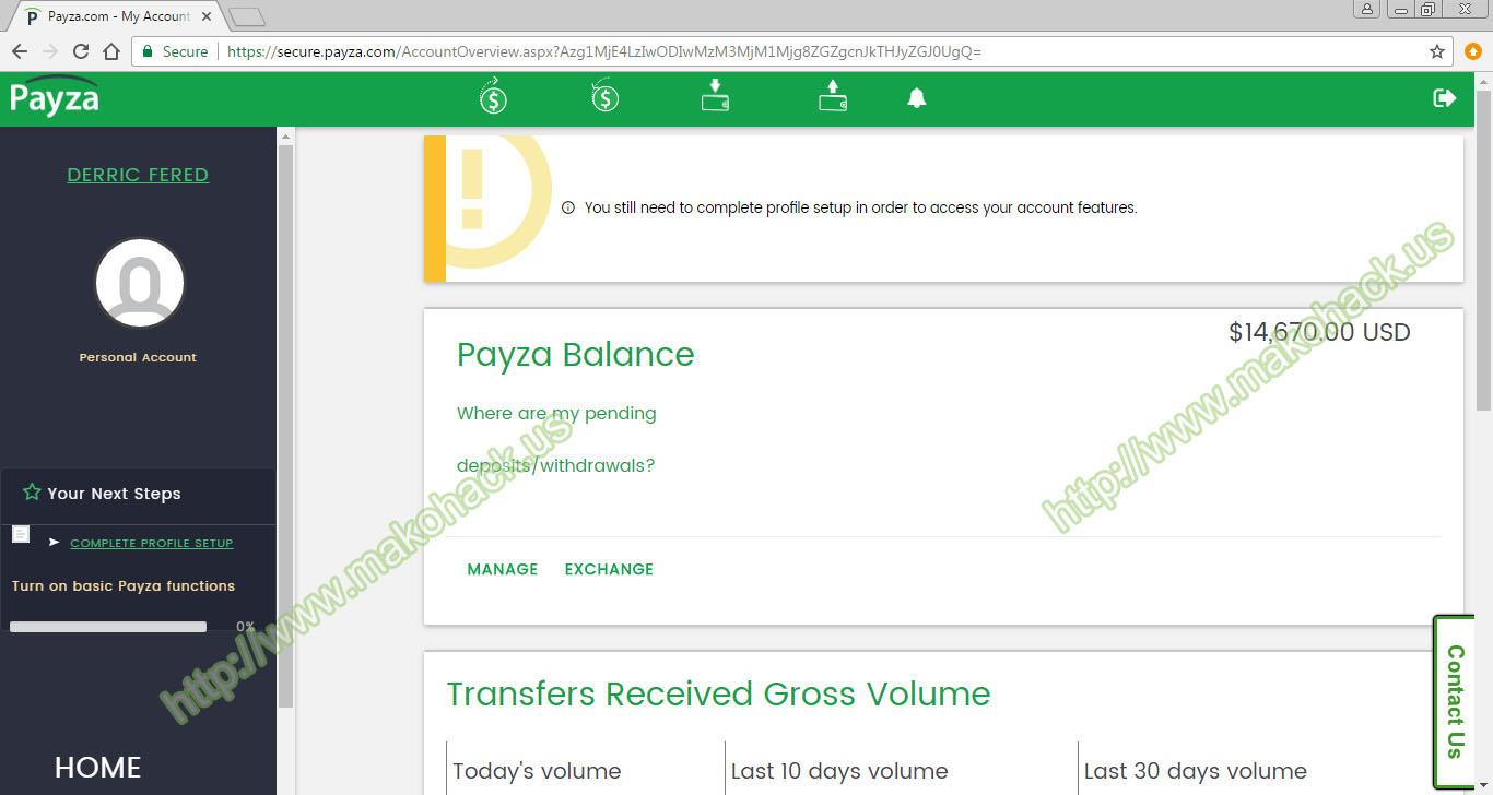 www makohack us - Real Money Adder Software: PAYZA ADD FUND 9 9  NET