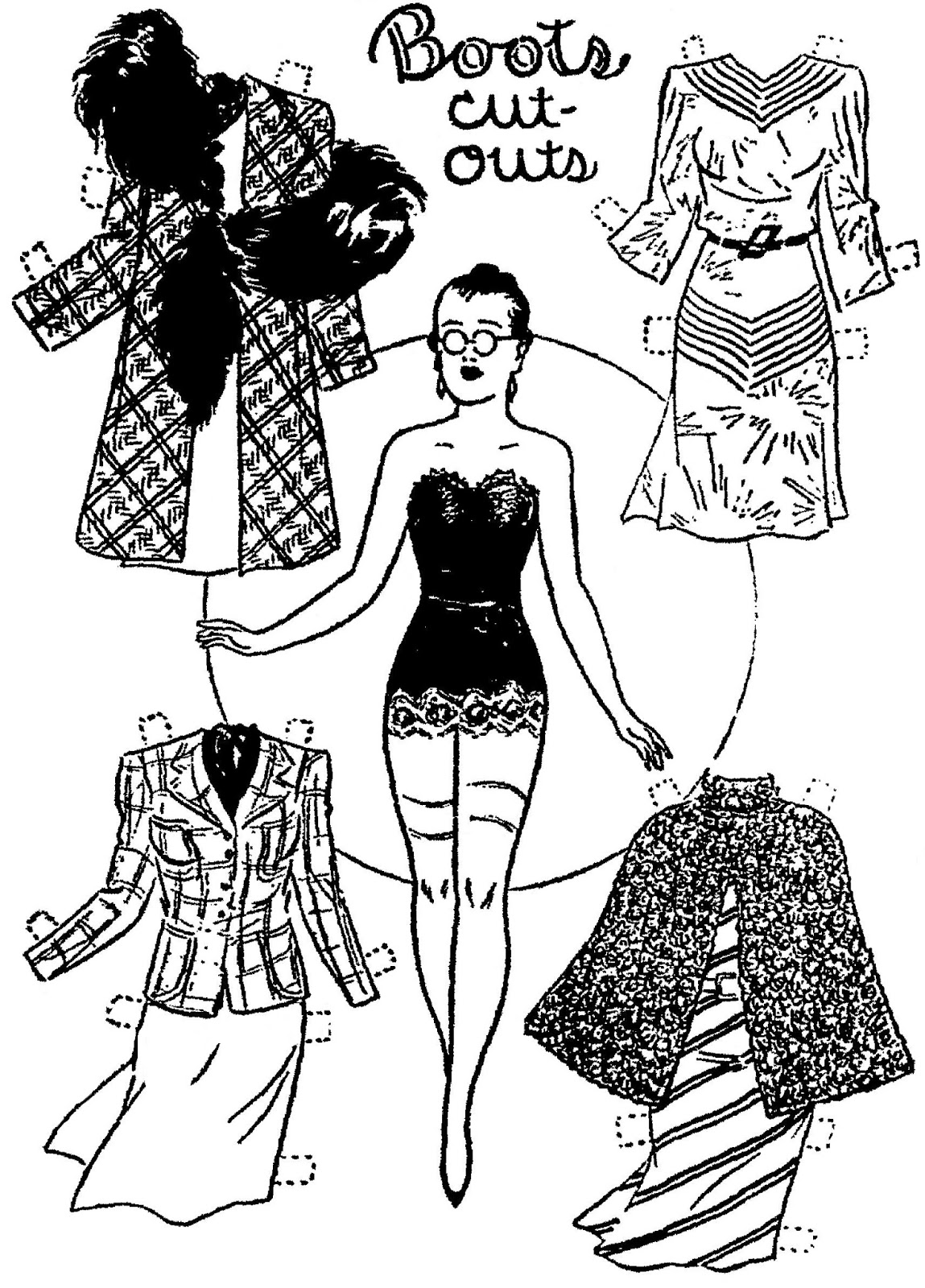 Mostly Paper Dolls Too!: CORA and Her December Wardrobe