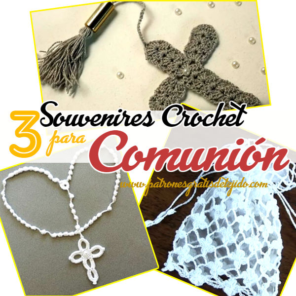 como tejer un rosario, una cruza y una bolsa denaria al crochet